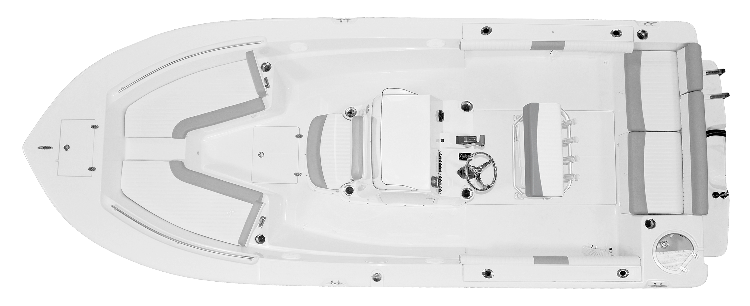 21-Foot Center Console Deck Layout