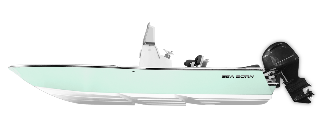 Sea Born FX Series Bay Boat Sea Foam Green