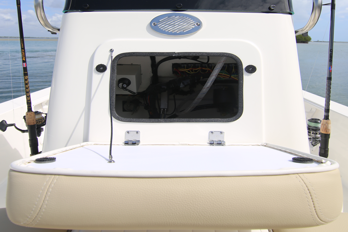 Bay Boat Console Forward Access Panel