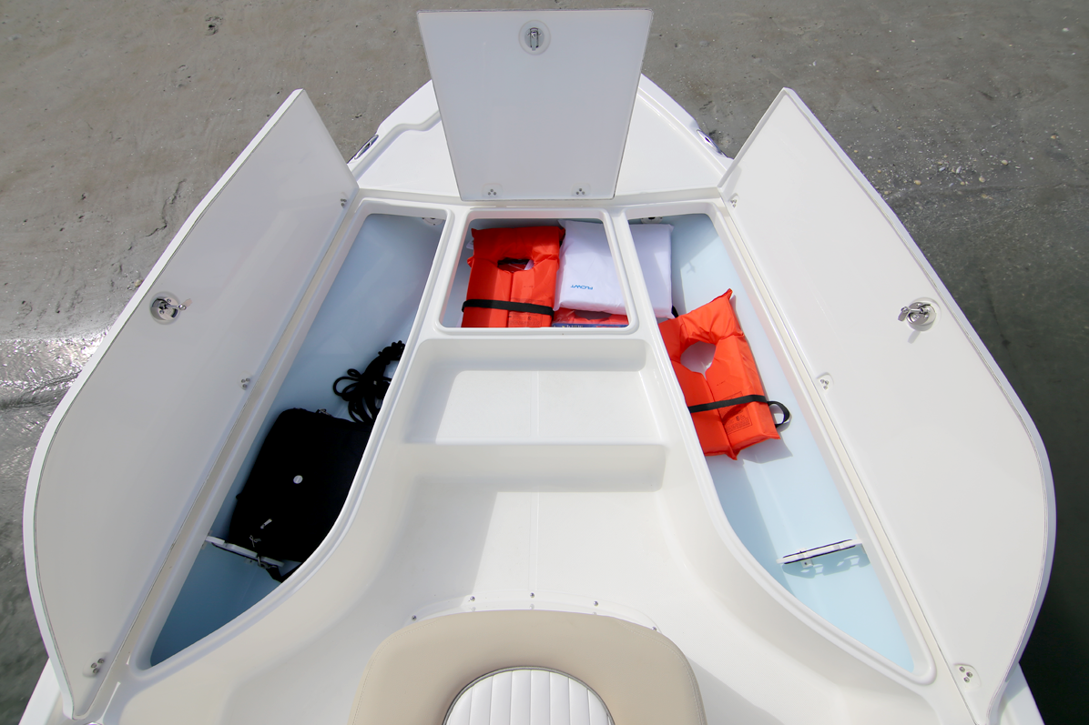 Bay Boat Forward Storage Lockers